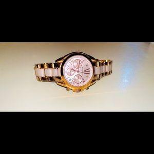 MICHAEL KORS Womens Rose Gold Water proof watch.